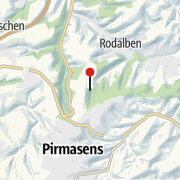 Kartta / Naturdenkmal Bärenhöhle im Langenbachtal