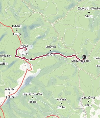 Map / Bílá Opava trails
