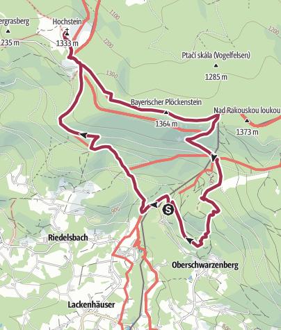 Karte / Böhmerwald - Runde, im Dreiländereck