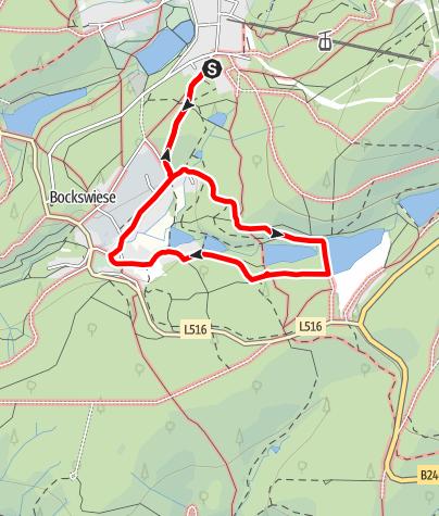 """Karte / Rundwanderweg """"Oberes Grumbachtal"""" um Hahnenklee"""