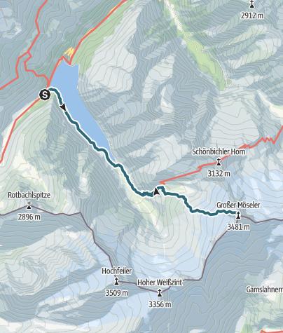Karte / Großer Möseler über Furtschaglhaus
