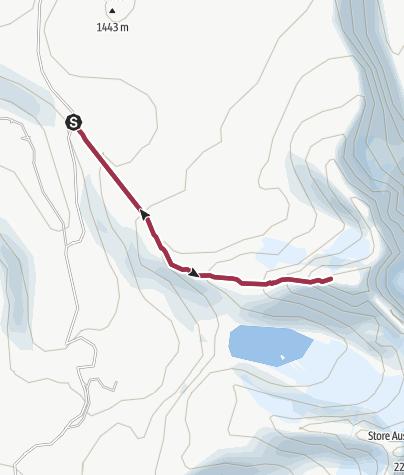 Karte / Wandern in Jotunheimen: auf den Store Soleibotntinden (Soleibotntindan, Soleibotntind)