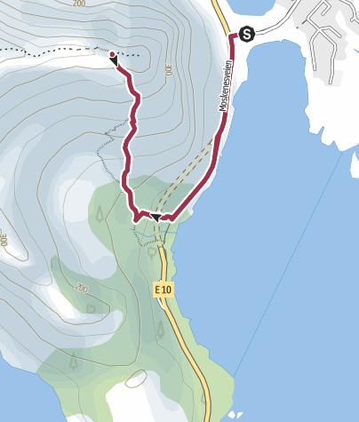 Karte / Zum Postkartenmotiv der Lofoten: auf den Reinebringen