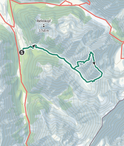 Map / Crossing of the Höfats Mountain
