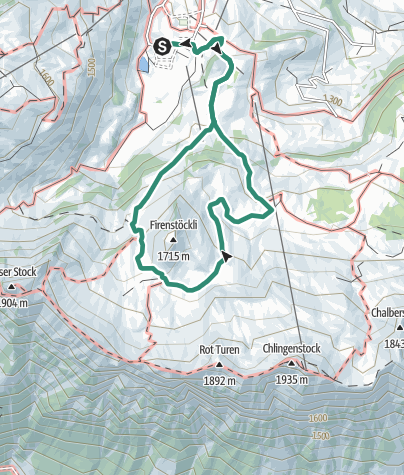 Map / Stoos Hutte > Firenstökckli  August 18, 2018