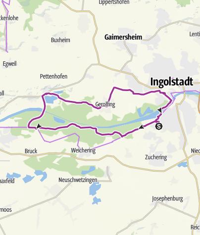 Karte / 19. August 2018 Ingolstadt - Irgertsheim zum Manne