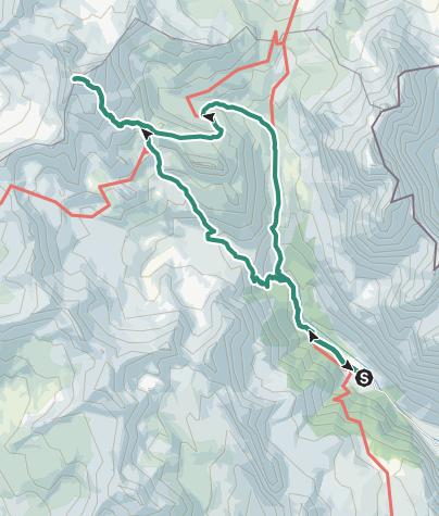 Hartă / Monte Thabor con discesa ad anello per il Lac du Peyron