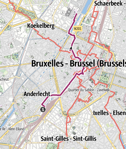 Map / brussel zuid tot Tour & taxi's