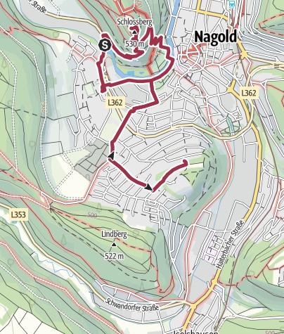 Karte / Nagold Ruins
