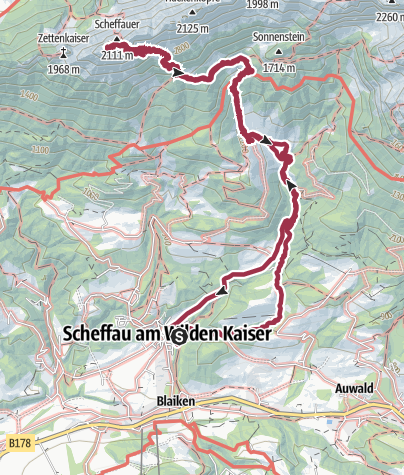 Karte / Scheffauer