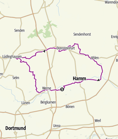 Karte / House-Lap II 101km ( Burg-Lüdinghausen-Ascheberg-Drensteinfurt-Ahlen-Burg )