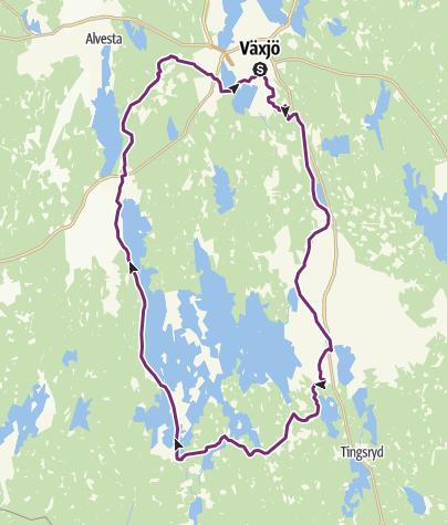 Map / Åsnen Runt