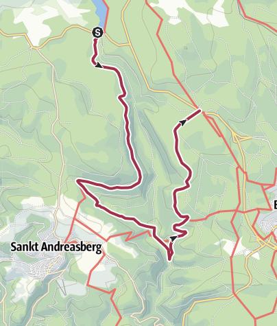 Karte / Winterwanderweg Oderteich - Rinderstall - Königskrug