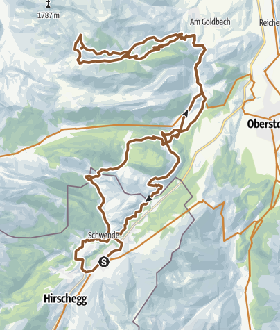 Karte / Rundtour: Riezlern - Riedbergpass