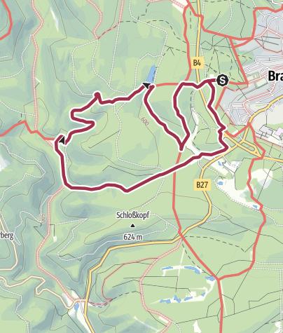 Karte / Von Braunlage über den Naturmythenpfad zum Rinderstall