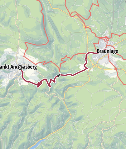 Karte / St. Andreasberg über die Schwefelquellen nach Braunlage