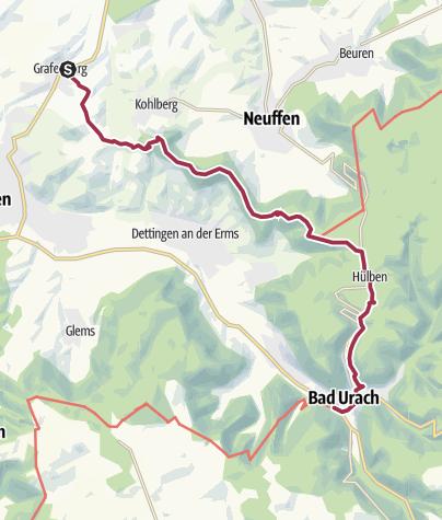 Map / Grafenberg - Hörnle - Bad Urach