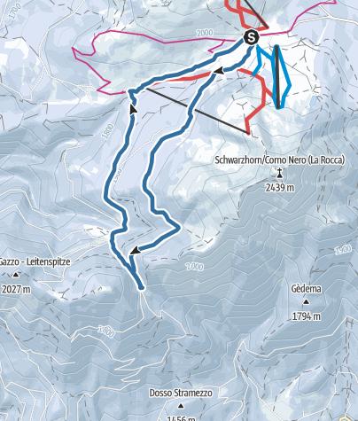 Cartina / La malga Cugola Alta dal Passo Oclini