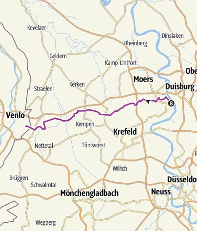 Karte / Duisburg - Venlo