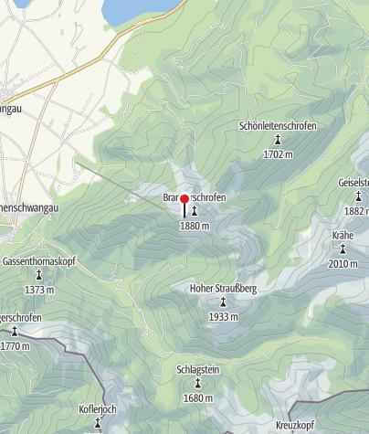 Karte / Branderschrofen Schulter