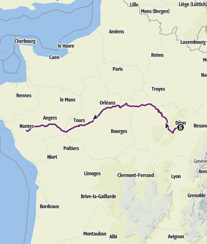 Karte / Dijon Nantes