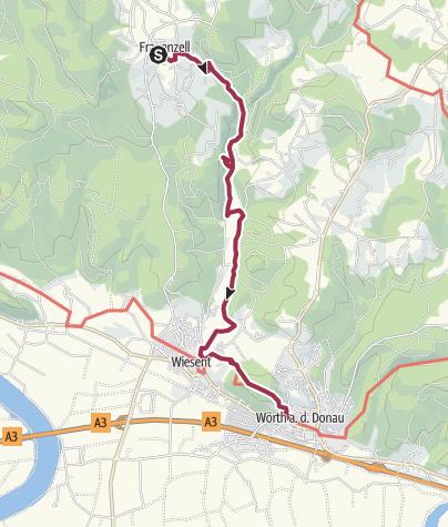 Karte / Burgensteig Frauenzell - Ruine Heilsberg - Wiesent - Wörth