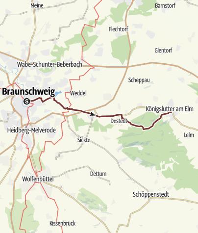 Karte / KPW2018_31 Von Braunschweig nach Königslutter am 09.10.2018