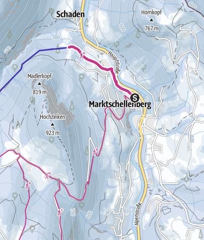 Karte / Rodelbahnweg