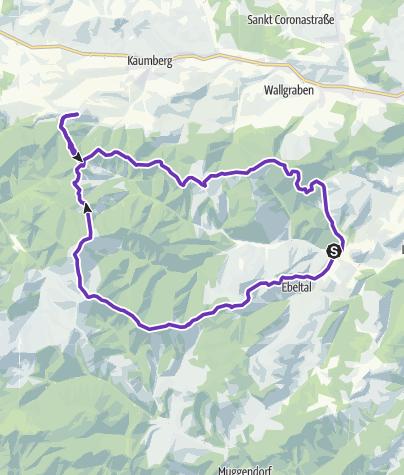 Karte / Kieneck-Araburg-Hocheck Überschreitung