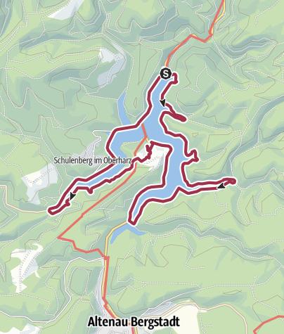 Karte / Rundwanderweg Okertalsperre