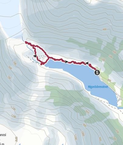Karte / Nigardsbreen, Norwegen