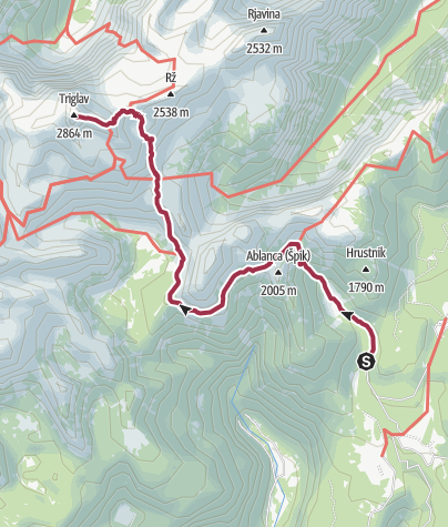 Mapa / Triglav