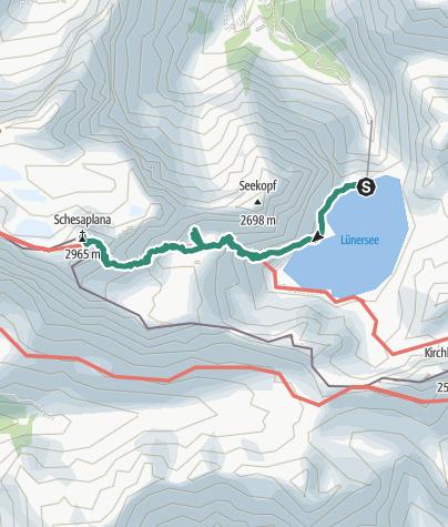 Karte / Lünersee-Schesaplana