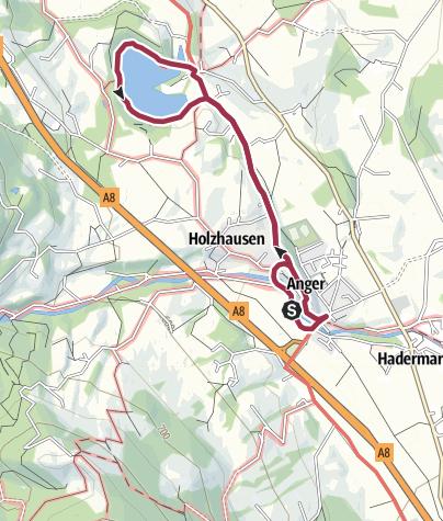 Karte / Rundwanderung Anger-Höglwörth