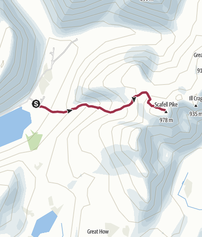 Map / Wasdale Head National Trust to Scafell Pike