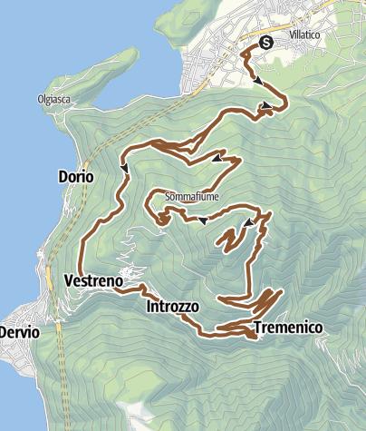 Map / Monte Legnoncino Colico Piano (Lago di Como)
