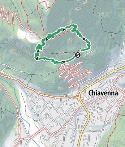 Map / Via Ferrata Pietro Biasini (C) Pianazzola Chiavenna