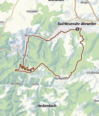 Mapa / Rundtour zum Steinerberg und Ramersbach