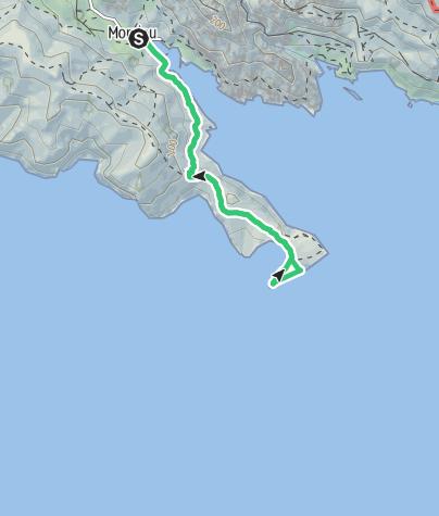 Karte / Traverse Face au Large am Cap Morgiou