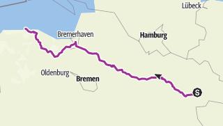 Karte / Radtour Stütensen-'Spiekeroog