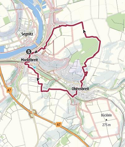 Karte / Traumrunde Marktbreit - Obernbreit