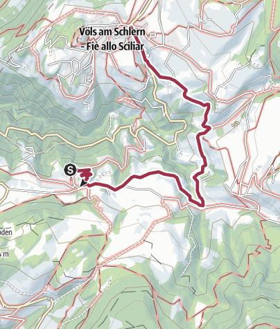 Karte / Von Völs nach Schloss Prösels