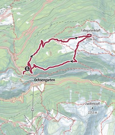 Karte / Feldringalm zum Faltegartenkögele Rundwanderung