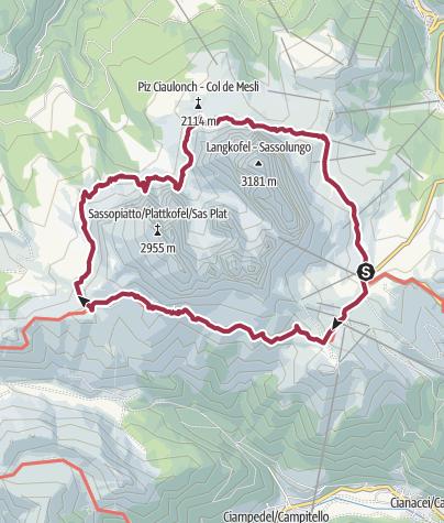 Karte / Südtirol; rund um den Langkofel und die Grohmannspitze