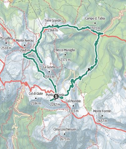Cartina / Passo Giau giro ad anello