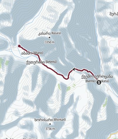 Map / Truso Valley hiking trip