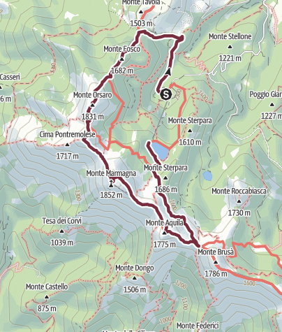 地图 / parco 100 laghi Lagdei- Mariotti andata