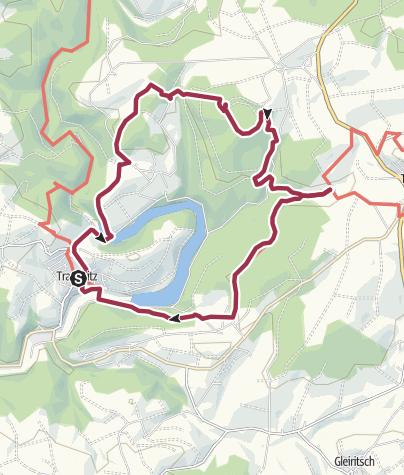 Karte / Trausnitz - Rabenleite und zurück. Eine Traumwanderung im Herbst.