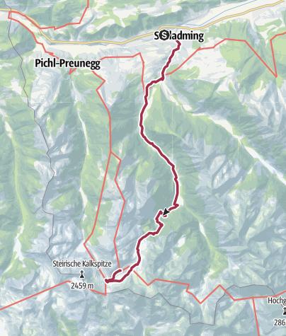 Map / Alternativroute von Schladming zu den Giglachseen