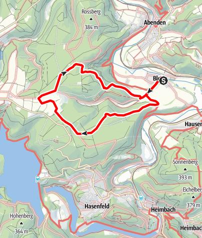 Karte / Kleine Runde über den Berg